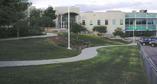 South side of Columbine High School, present-day