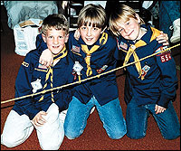 Dylan Klebold, Brooks Brown, and friend in Cub Scouts