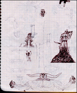 Eric Harris's Doom drawings